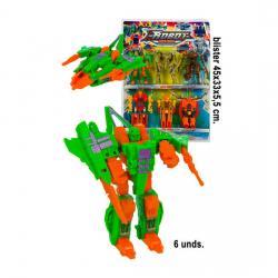 Blister Transformer Robots - 6 piezas, WAT