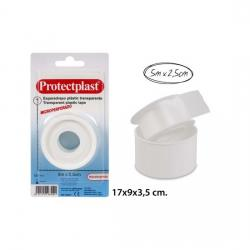 Esparadrapo Plastico, PROTECTPLAST, 5mx2,5cm. - Imagen 1