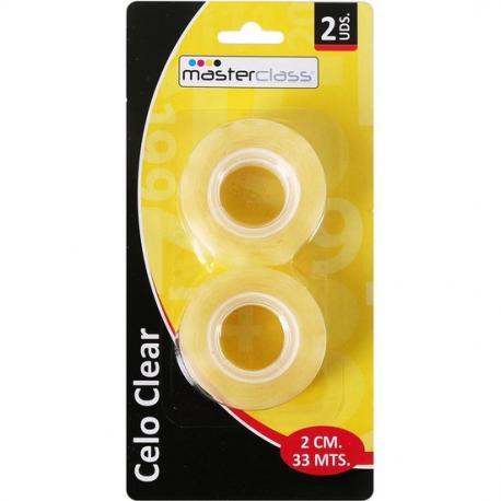 SET 2 CELOS CLEAR BLISTER 33M X 2CM - Imagen 1