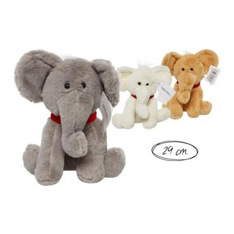 Peluche Elefante Colores Surtidos, ERJUTOYS, 29cm. - Imagen 1