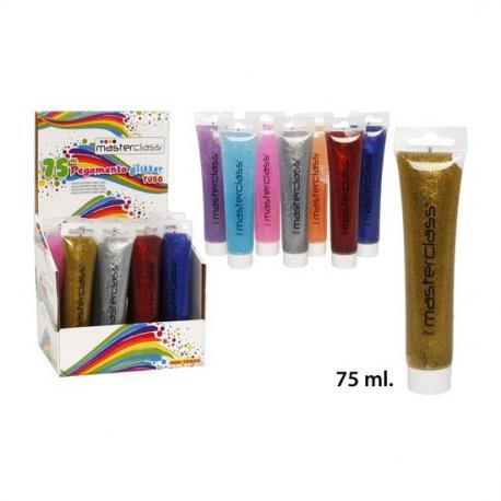 Pegamento Glitter Tubo Surtido Colores, MASTERCLASS, 75ml. - Imagen 1