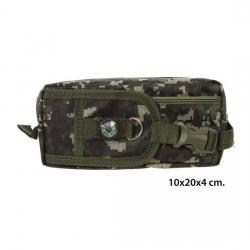 Portatodo Verde Camuflaje Con Brújula, MASTERCLASS, 10x20x4cm.