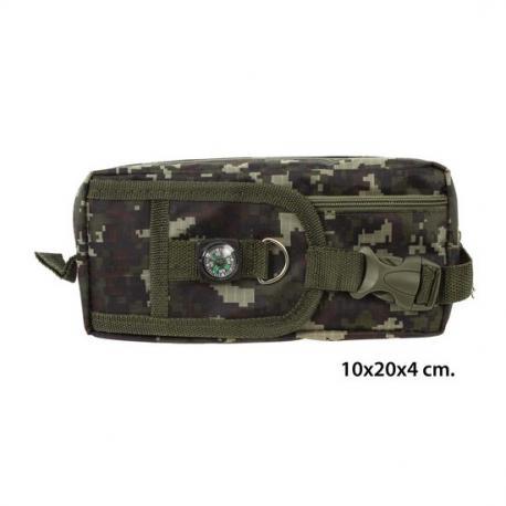 Portatodo Verde Camuflaje Con Brújula, MASTERCLASS, 10x20x4cm. - Imagen 1