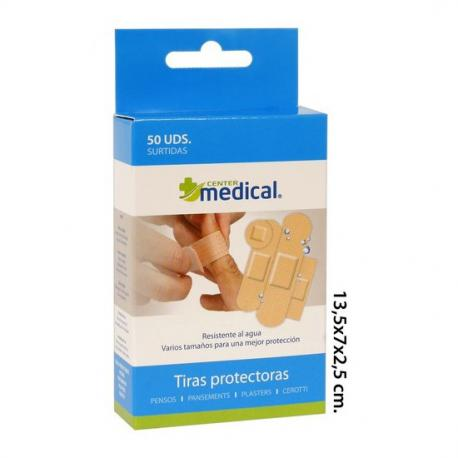 Tiras Protectoras Lavables Surtidas, MEDICAL CENTER, 50uds. - Imagen 1