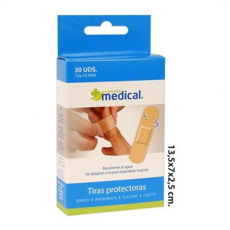 Tiras Protectoras Talla Unica, MEDICAL CENTER, 30uds. - Imagen 1