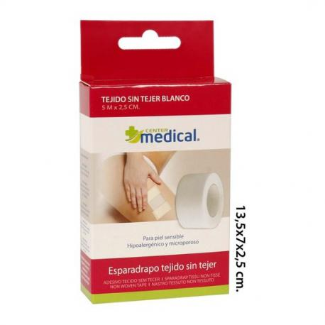 Esparadrapo Hipoalergenico, MEDICAL CENTER, 5mx2,5cm. - Imagen 1