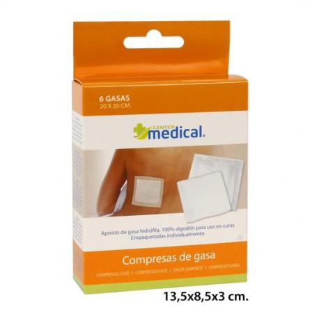Gasa Individual 20x20, MEDICAL CENTER, 6uds. - Imagen 1