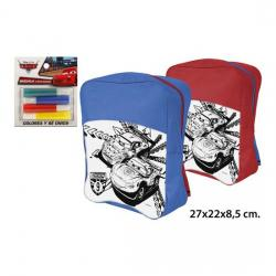 MOCHILA COLOREAR 4 ROTULADORES, DISNEY, -CARS-